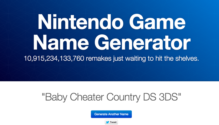 Thumbnail for Nintendo Game Name Generator